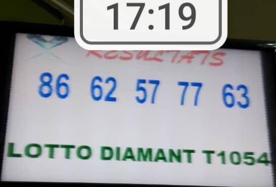 Numéros gagnants du lotto Diamant tirage 1054