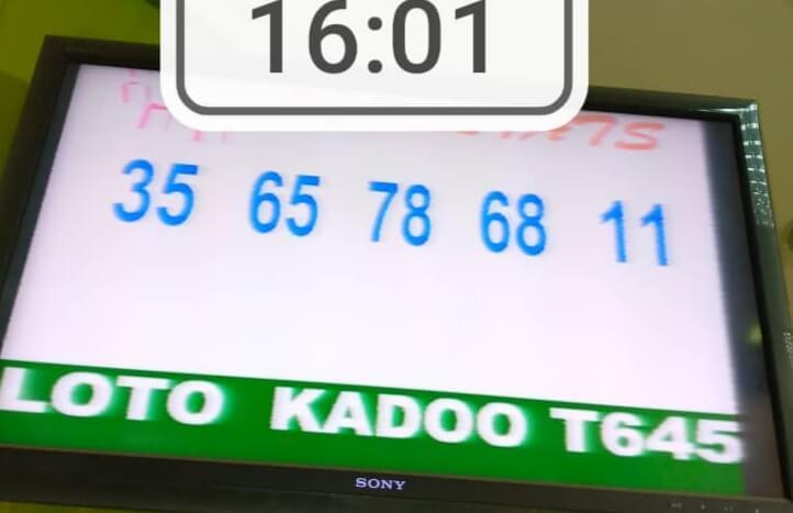 Numéros gagnants du loto Kadoo tirage 645