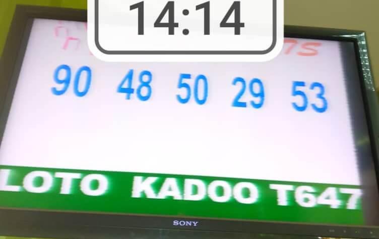 Résultats du loto Kadoo tirage 647