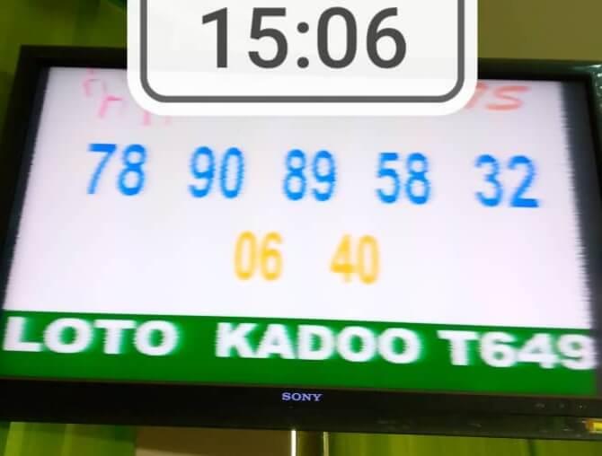 Résultats ou Numéros gagnants du loto Kadoo tirage 649
