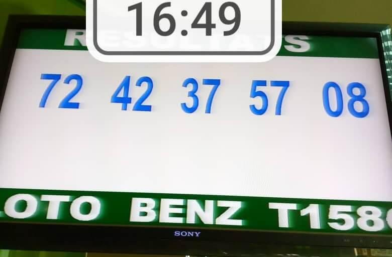 Résultats du loto Benz tirage 1586