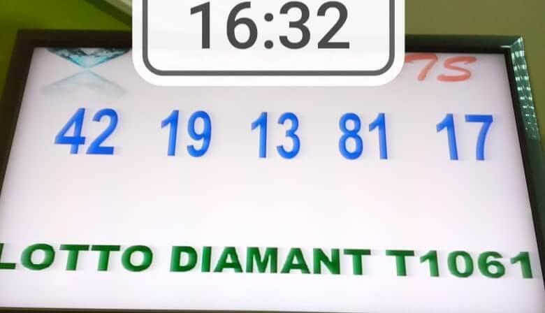 Résultats du lotto Diamant tirage 1061