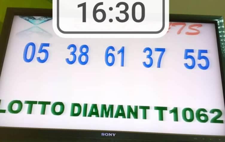 Résultats du lotto Diamant tirage 1062