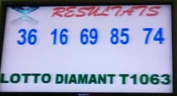Résultats du lotto Diamant tirage 1063
