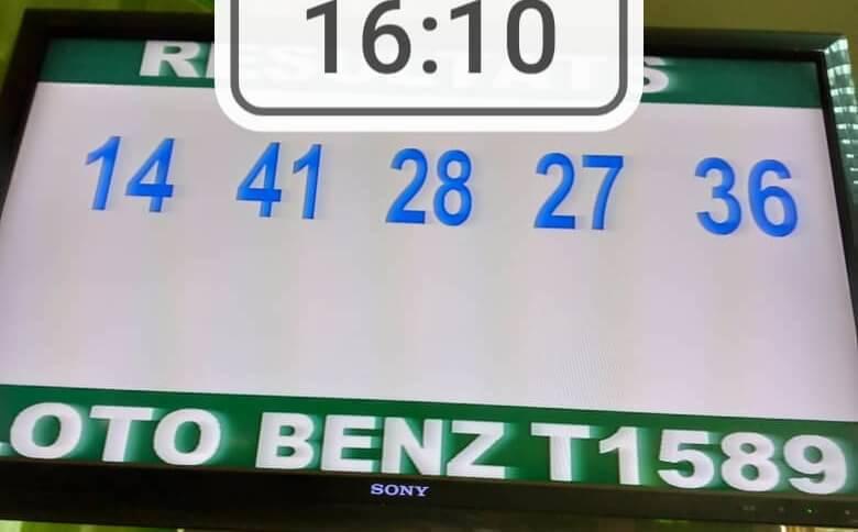 Résultats du loto Benz tirage 1589