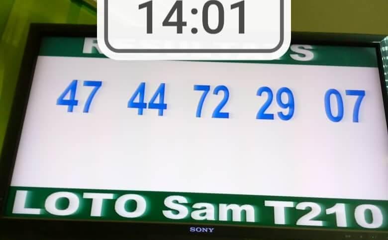 Résultats du loto SAM tirage 210