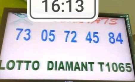 Résultats du lotto Diamant tirage 1065