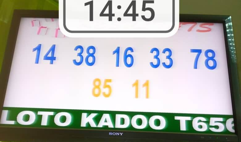 Résultats du loto Kadoo tirage 656