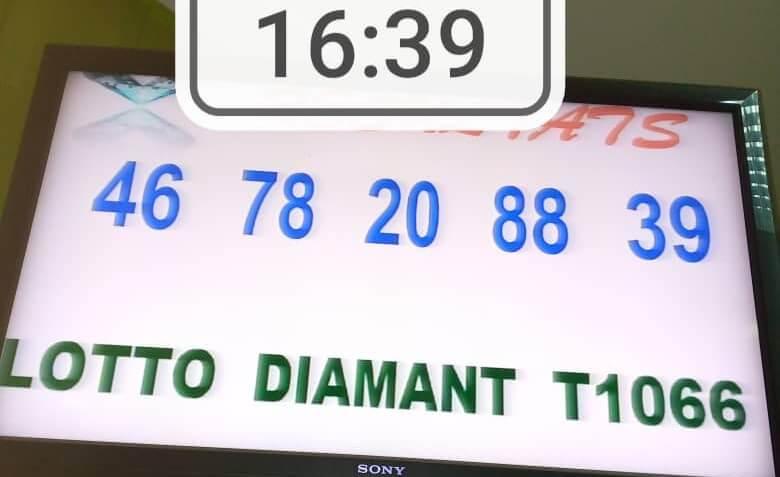 Résultats du lotto Diamant tirage 1066