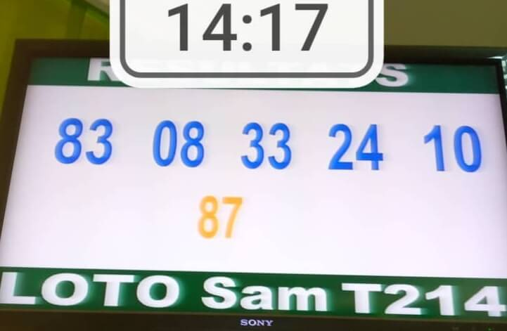 Résultats du loto SAM tirage 214