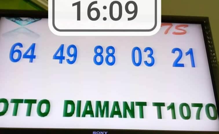 Résultats du lotto Diamant tirage 1070