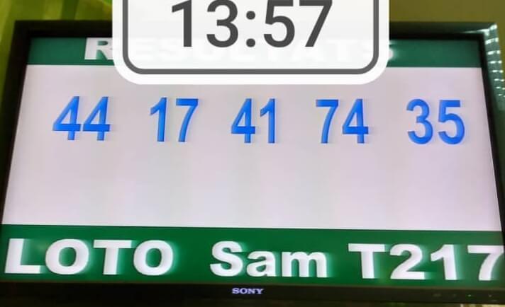 Résultats du loto SAM tirage 217
