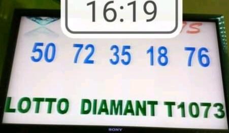 Résultats du lotto Diamant tirage 1073