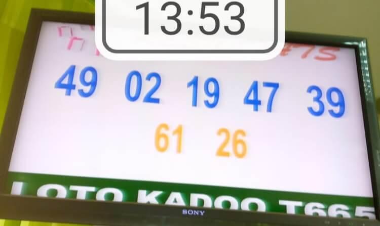 Résultats du loto Kadoo tirage 665