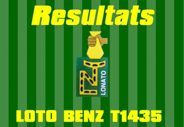 Resultats loto BENZ T1435