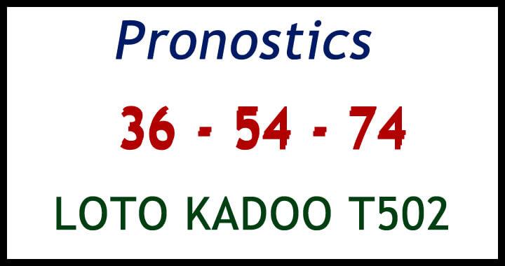 Pronostics pour LOTO KADOO