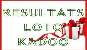Les numéros gagnants ou résultats du loto Kadoo